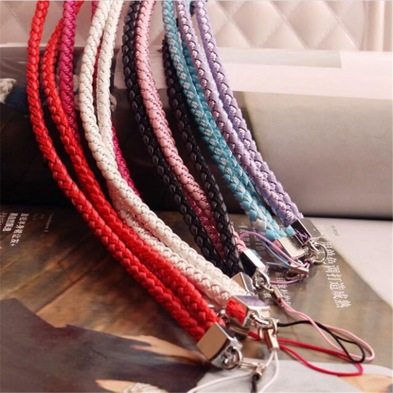 Fashion Weave Lanyard For Phone Neck Mobile Phone Straps Phone Chain Lanyard Long ID Card Key USB Camera MP3 Hanging Badges Key