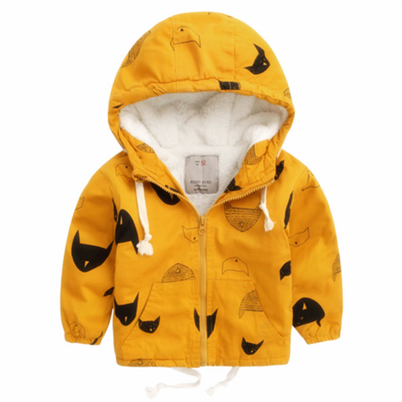 0c060b30b Hooded children windbreaker Spring Boys Jacket Coat Baby boy Clothes  Toddler Kids Girls Outerwear blazer minnie Outwear Clothing