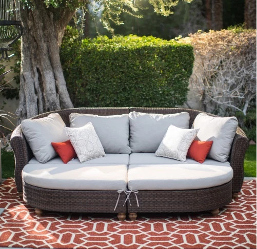 2017 Factory direct sale outdoor living furniture curved back all weather  sofa(China (Mainland - Compare Prices On Custom Outdoor Furniture- Online Shopping/Buy