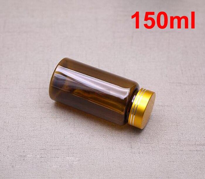 100PCS 150ML/150CC Translucent Brown Bottle, Pill ...