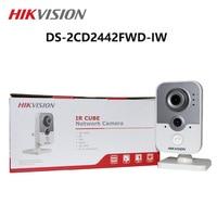 HIKVISION 4MP WIFI IP Camera Wireless Cube webcam DS 2CD2442FWD IW baby videocam surveillance cam alarm system CCTV Webcam
