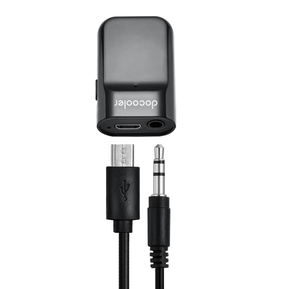 Car Bluetooth Music Receiver With Handsfree: Docooler Bluetooth Receiver Hands-free Car Kits 3.5mm Stereo Bluetooth Music Receiver