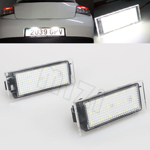 2Pcs Car LED Number License Plate Light SMD3528 For Renault Megane 2 Clio Laguna 2 Megane 3 Twingo Master Vel Satis