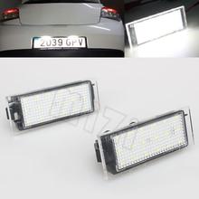 Car LED Number License Plate Light SMD3528 For Renault Megane 2 Clio Laguna 2 Megane 3 Twingo Master Vel Satis
