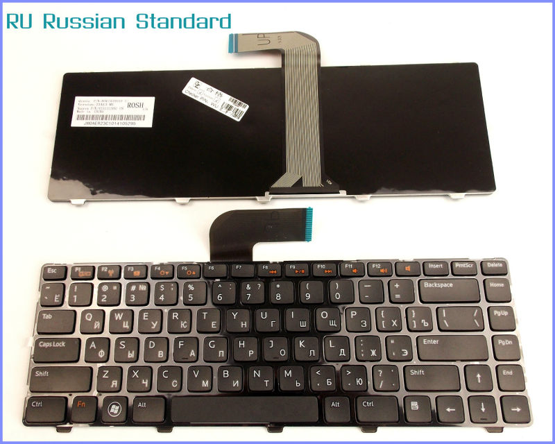 Russian RU Version <font><b>Keyboard</b></font> For <font><b>Dell</b></font> Inspiron 14R 14RD N4110 N4110D M411R M521R 15 <font><b>3520</b></font> Laptop image
