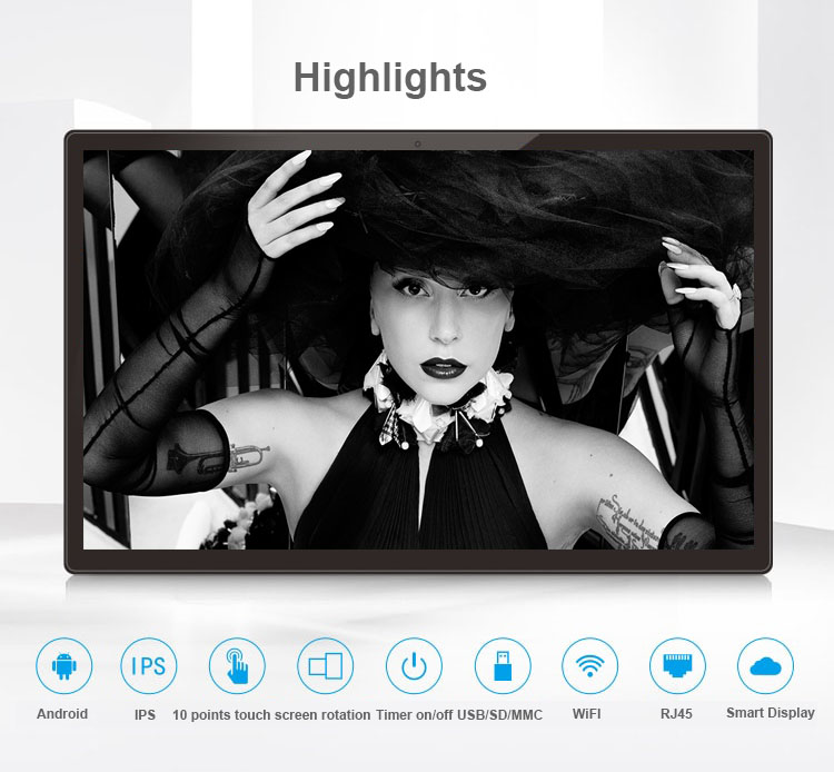 14 Inch Android All In One Pc/Interactive Display/smart Kiosk(10 Points Touch, 1920*1080, IPS, HDMI Out, Wifi, RJ45, Bluetooth)