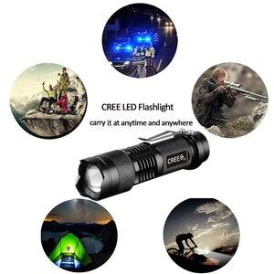 Image 2 - Lampes de poche tactiques puissantes lampes de Camping LED portables 3 Modes lanternes de lumière torche Zoomable auto défense 6 pcs/Lot z50