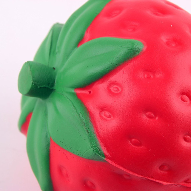Hot Sale Release Stress Strawberry Cream Scented Slow Rising Toy Cell Phone Charms Pendant Strap Small Rising Rare Fun Toys