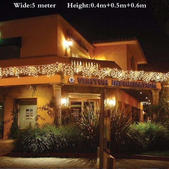 aansluitbaar 5 m led gordijn ijspegel lichtslingers led kerstverlichting kerst lampen ijspegels xmas bruiloft decoratie