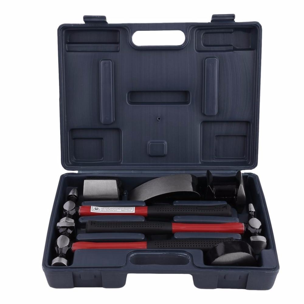 7 Pcs Automotive Sheet Metal Repair Set Sand Hammers With Red Plastic Handle 7 Pcs Car Auto Body Panel Repair Tool Kit Hot Sale 127pcs per set automotive plastic fastener kit pc 0127