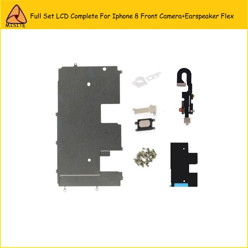 20PCS/LOT Full Set LCD Assembly Digitizer Small Parts for Iphone 8 8G Front Camera Flex+Ear Speaker FlexBackplate Flex Cable