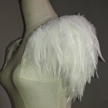 CRIAPSSOUL Free shipping handmade ivory feather shoulder epaulette FSP15006