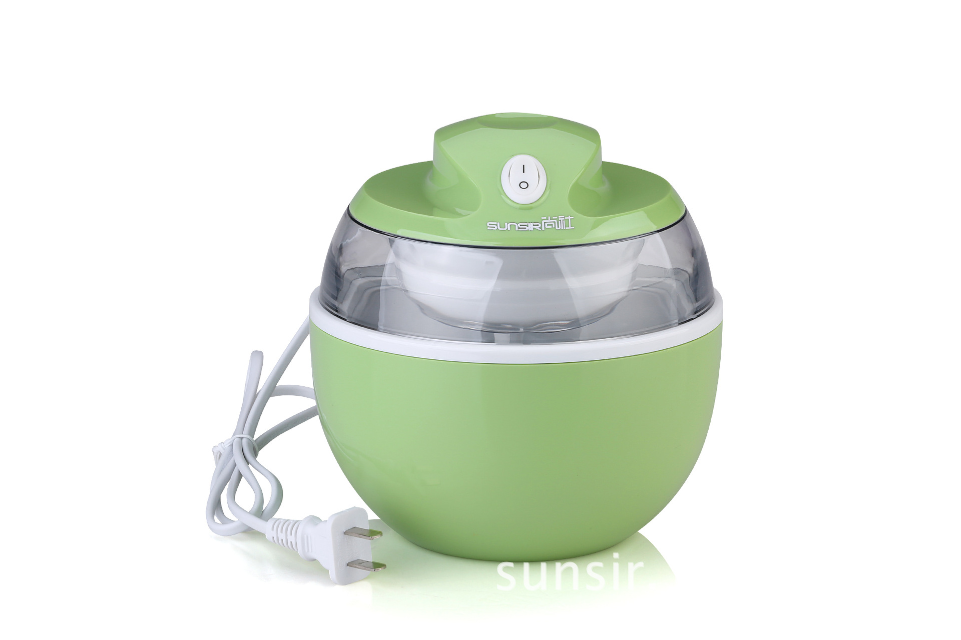 Home electric portable mini ice cream 7W machine automatic fruit ice cream maker home appliances green fully automatic diy fruit ice cream machine green