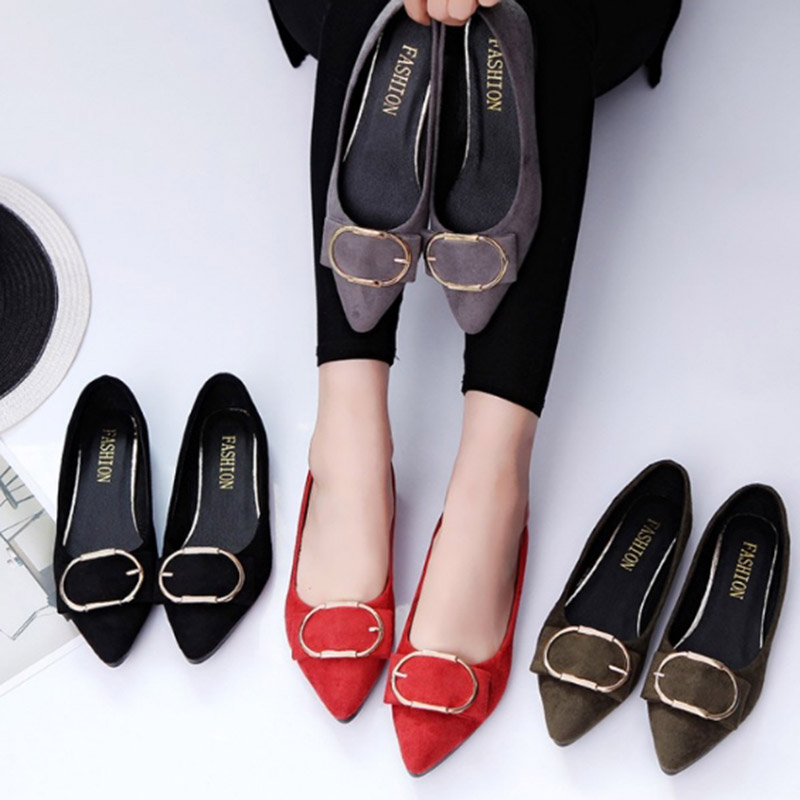 2017 Summer Hot Sale Sexy Women Flock Leather Flats Single Shoes Pointed Toe Shallow Mouth Casual Loafers Shoes Big Size 35-39 lin king fashion pearl pointed toe women flats shoes new arrive flock casual ladies shoes comfortable shallow mouth single shoes