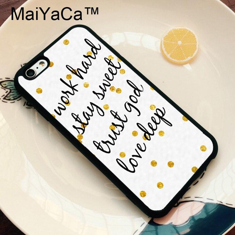 Maiyaca работать сладкий доверие Бог любит глубокий золотой горошек Телефонные Чехлы для iPhone 6 Чехол для телефона Телефон задняя крышка для apple ...