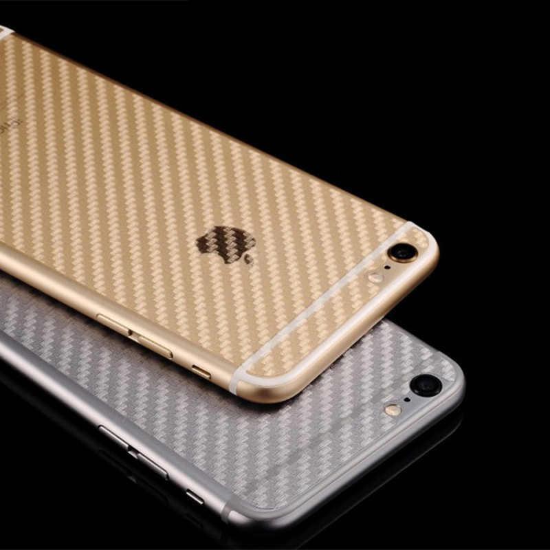 Back Carbon Fibre Film Mobile Phone Stickers for Apple iPhone 6 6S 7 8 Plus 5 5S SE 4 4S Pegatinas adesivos Accessories