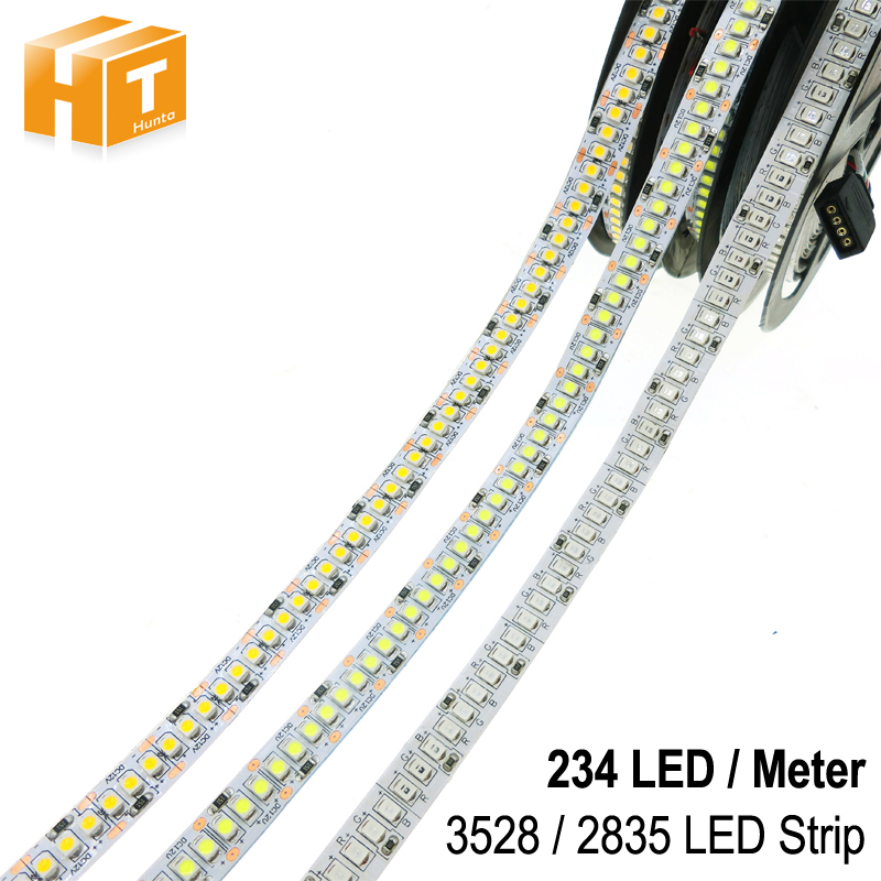 LED Strip <font><b>2835</b></font> 240LEDs/m DC12V High Brightness <font><b>2835</b></font> 234LEDs/m Flexible LED Light Warm White / White /RGB 5m/lot image