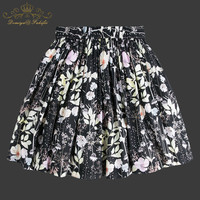 2018 Summer Baby Girl Flower Print Skirt Cute Princess Clothes Birthday Gift Toddler Ball Gown Party