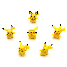 6pcs/set Pikachu Action Figure Cartoon PVC Toys Anime Decoration Dolls Kids Gifts Figures Game Pokemon Toys for Children(China)