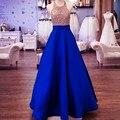 Plus Size 6XL 7XL Longo Maxi Saias Para As Mulheres 2017 Primavera preto Azul Cor Sólida Com Bolsos Pavimento Length Elegantes vestidos de Festa Saia