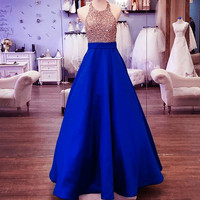 WBCTW XXS 10XL Plus Size Long Maxi Skirts For Women 2018 Spring Black Blue Solid With Pockets Floor Length Elegant Party Skirt