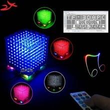 Новый 3D 8 S 8x8x8 мини mp3 музыка света cubeeds комплект встроенный звуковой спектр для TF карты, светодиодные электронные diy kit