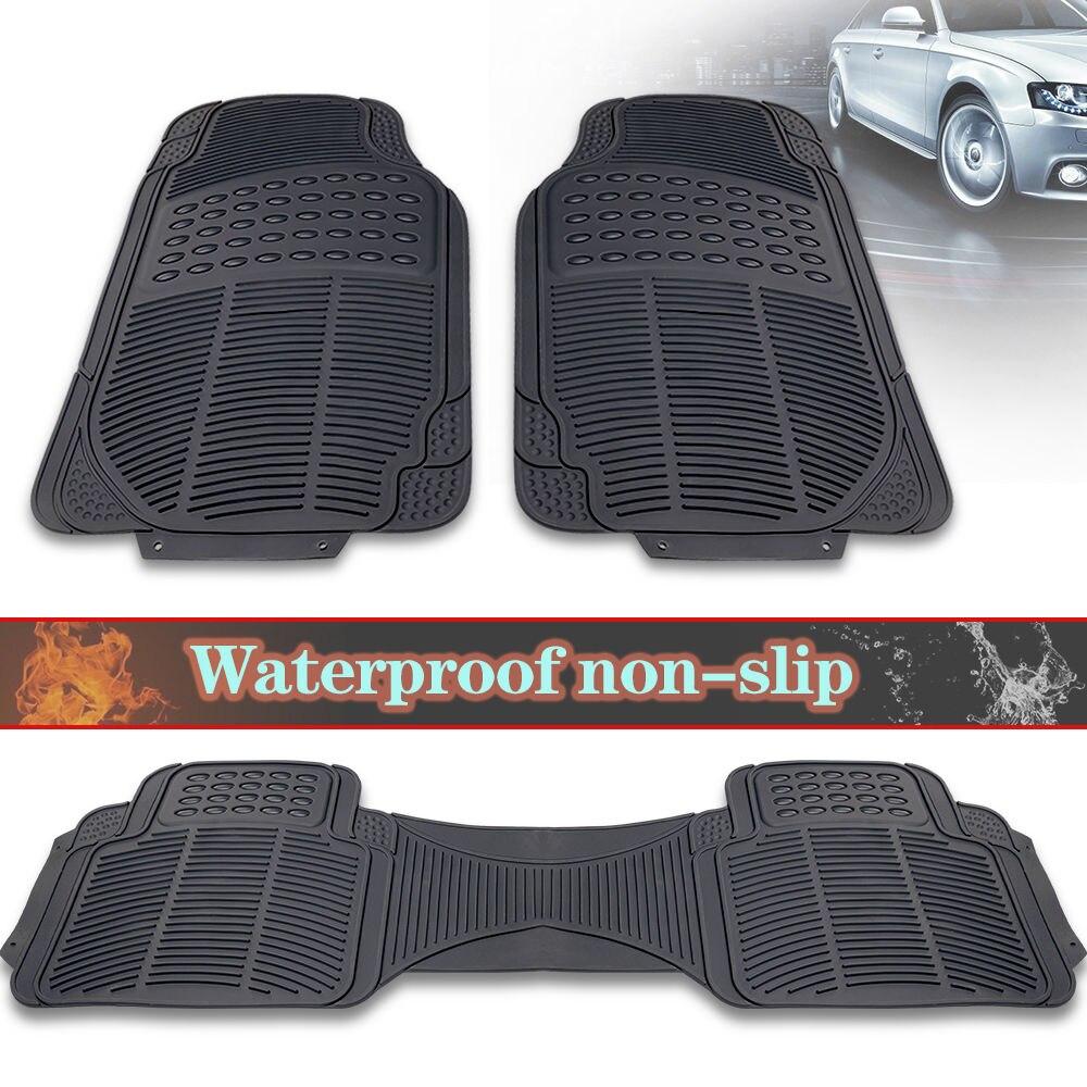 Floor mats us - Us 3pcs Car Truck Suv Van Custom Pvc Rubber Floor Mats Carpet Front Rear