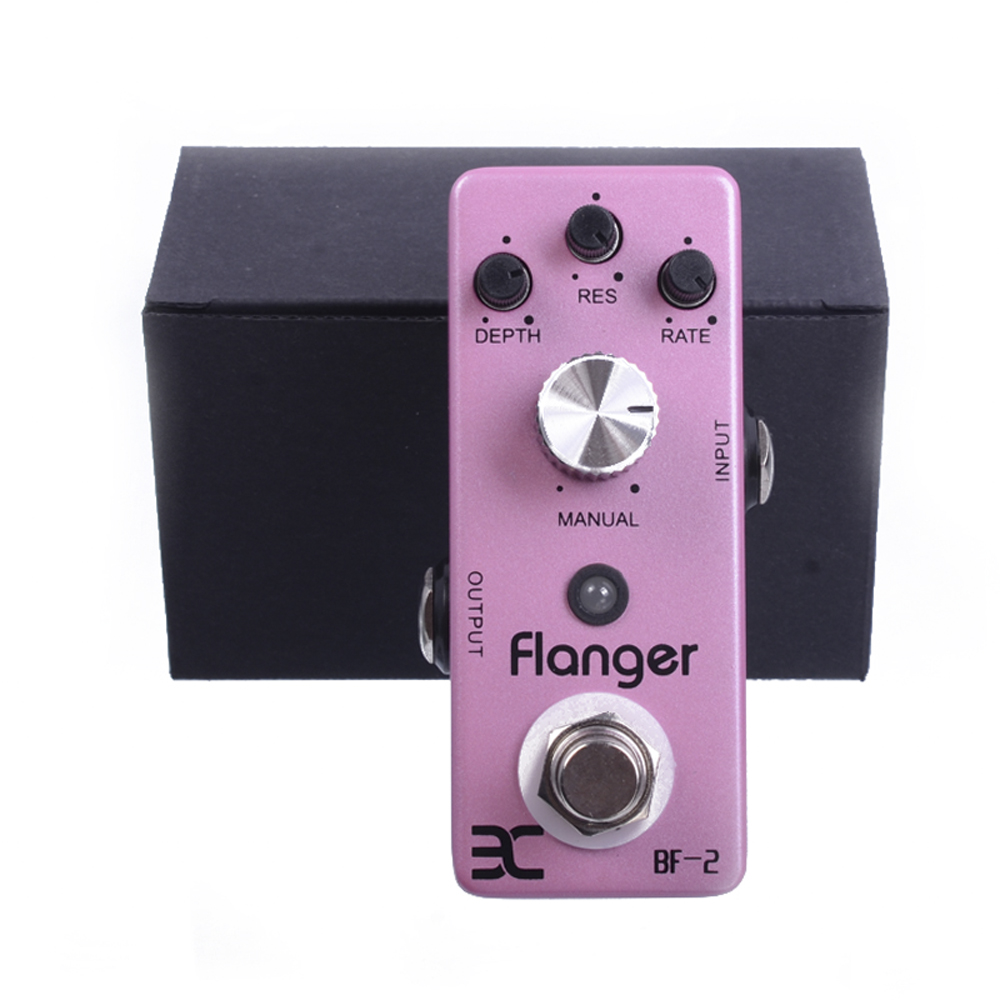 ENO EX BF-2 Flanger Guitar Effect Pedal True Bypass Compact Mini Pedal mooer ensemble queen bass chorus effect pedal mini guitar effects true bypass with free connector and footswitch topper