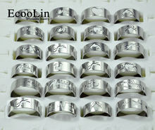 50 шт смешанные стили Модные мужские кольца из нержавеющей стали