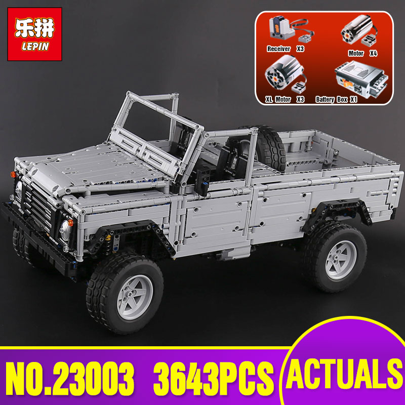 Lepin 23003 3643Pcs Technic series MOC Remote-Control Wild off-road vehicles model Building Blocks Bricks legoing Toy as Gift lepin 20011 technic series super classic limited edition of off road vehicles model building blocks bricks compatible 41999 gift