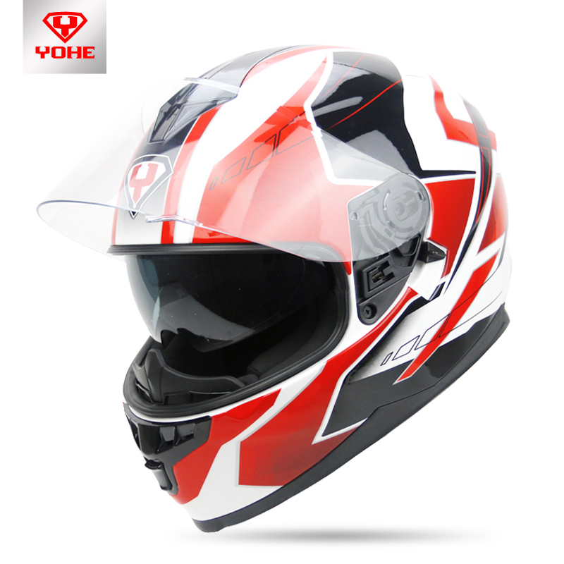 2017 summer New YOHE Full Face motorcycle helmet  YH-967 double lenses motorbike helmets made of ABS and PC  Size M L XL XXL yohe full face motorcycle helmet yh 967 double lense full cover motorbike helmets made of abs pc lens visor have 9 kinds colors
