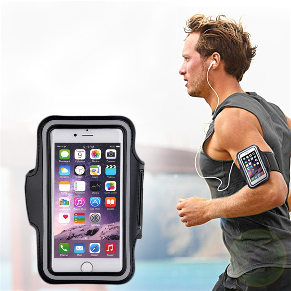 2018 New Runing Bags Sports Exercise Running Gym Armband Pouch Holder Case Running Bag For Cell Phone S3 S4 S5 S6 / S6 Edge