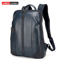 MAGIC UNION Brand Design Fashion Bag For Men Business Men S Patent Leather Backpacks Men Laptop