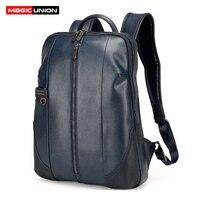 MAGIC UNION Brand Design Fashion Bag For Men Business Men S Patent Leather Backpacks Men Laptop