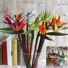 Artificial Silk Flower Bird of Paradise Flowers Fake Silk Plants for Wedding Home Garden Party Decoration Flowers