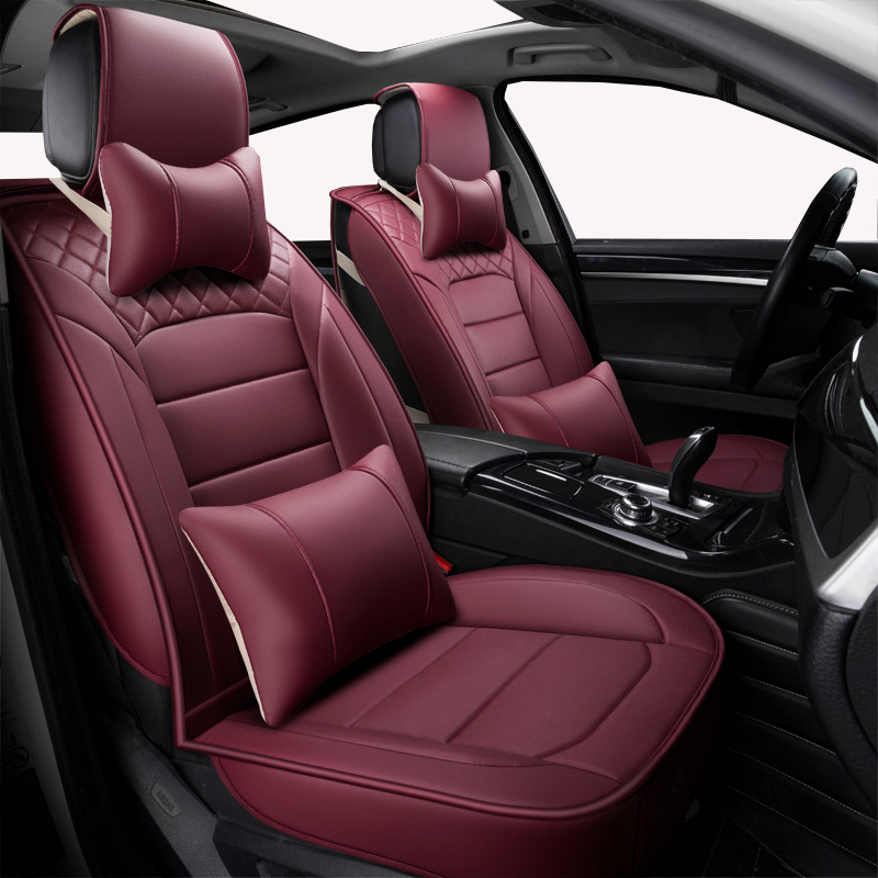 Front Rear Universal leather car seat covers For Hyundai solaris ix35 i30 ix25 Elantra accent