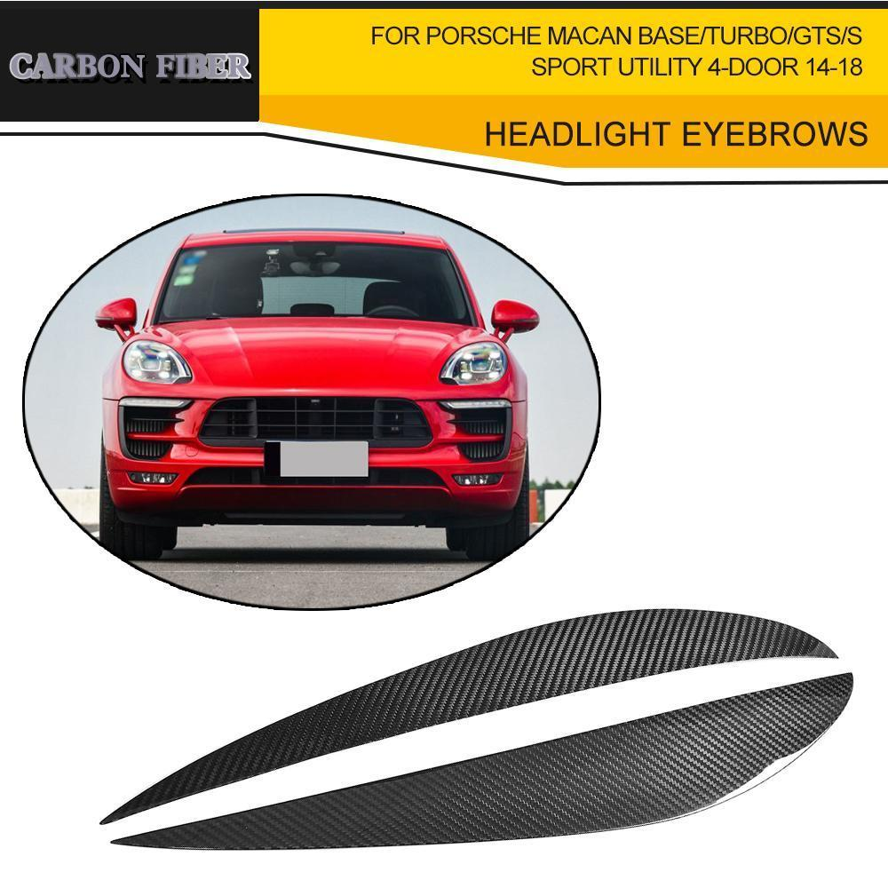Headlight Eyebrows Dry Pure Carbon/ Dry FRP for Porsche Macan Base/Turbo Sport Utility 4-Door 2014 2015 2016 2017 2018 фаркоп porsche macan 2013 без электрики фаркоп porsche macan 2013 без электрики 2 ро