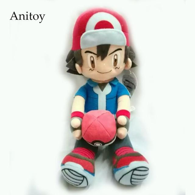 Anime Cartoon Monsters Ash Ketchum with ball 2 styles Soft Stuffed Dolls Cute Plush Toys Kids Christmas Gift AP0419