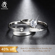925 Silver Ring Set with CZ Fine Jewelry for Women Men
