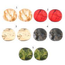 Acrylic Earrings Bohemian Tortoise Shell Mottled Stud Fashion Jewelry
