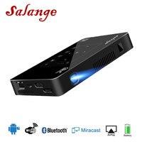 Salange P10 мини проектор Android 4 К Bluetooth 4,0 Wi Fi Full HD 1080p HDMI домашнего кинотеатра Портативный Projetor домашний мультимедийный проектор