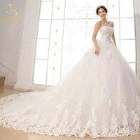 2018 Newest White Ivory Wedding Dresses Crystal Beaded Appliques Bridal Gowns Robe De Mariee Vestido De Novia QA1252