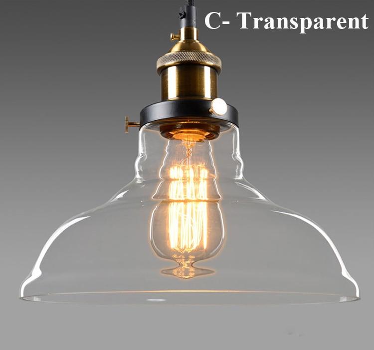 Dritat moderne me varëse xhami industriale Edison varëse me llambë - Ndriçimit të brendshëm - Foto 6