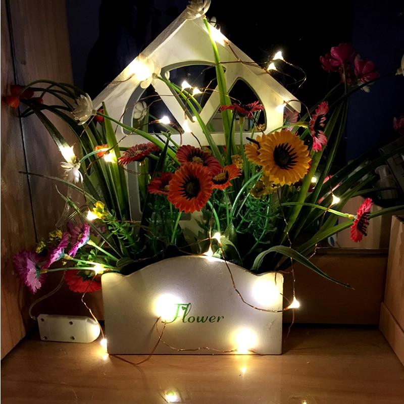 10PCS Cristmas Lights Copper Wire Fairy Lights Bateri String Bateri - Pencahayaan perayaan - Foto 5