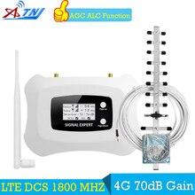 ATNJ 70dB повторитель сигнала 4 г LTE 1800 МГц gsm-репитер Booster 1800 70dB усиления ЖК дисплей усилитель gsm-сигнала 1800