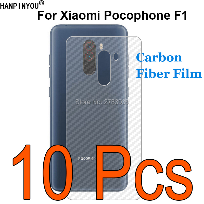 "10 Pcs/lot For Xiaomi Pocophone Poco F1 6.18"" Durable 3d Anti-fingerprint Transparent Carbon Fiber Back Film Screen Protector Consumers First"