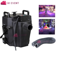 1PCS 3500W Ground low fog water Dry Ice Smoke Water Smoke Machine Dry Ice Effect 3m Hose For Stage Wedding DJ Party