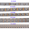 WS2812B умная Светодиодная лента, 1 м/3 м/5 м, 30/60/74/96/100/144 пикселей/светодиодов/м, WS2812 IC;WS2812B/m, IP30/IP65/IP67, черный/белый PCB,DC5V