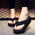 Mulheres Flip Flops Sandálias de Verão Sapatos de Mulher Chinelos de Praia Senhoras Sapatos Sandalias Mujer Preto