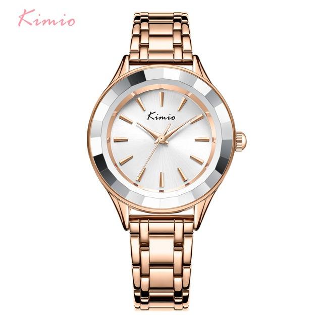 KIMIO Brand Women Rose Gold Bracelet Watch Ladies Quartz Watches Casual Luxury Dress Wristwatch relogio feminino reloj mujer